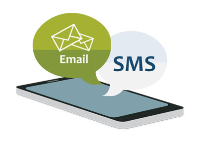 email sms notifications