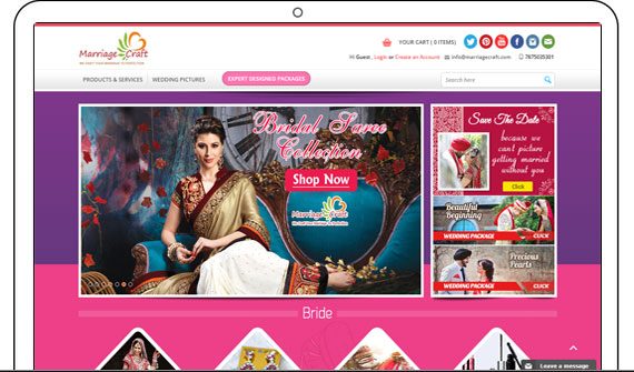 online ecommerce wedding shopping website
