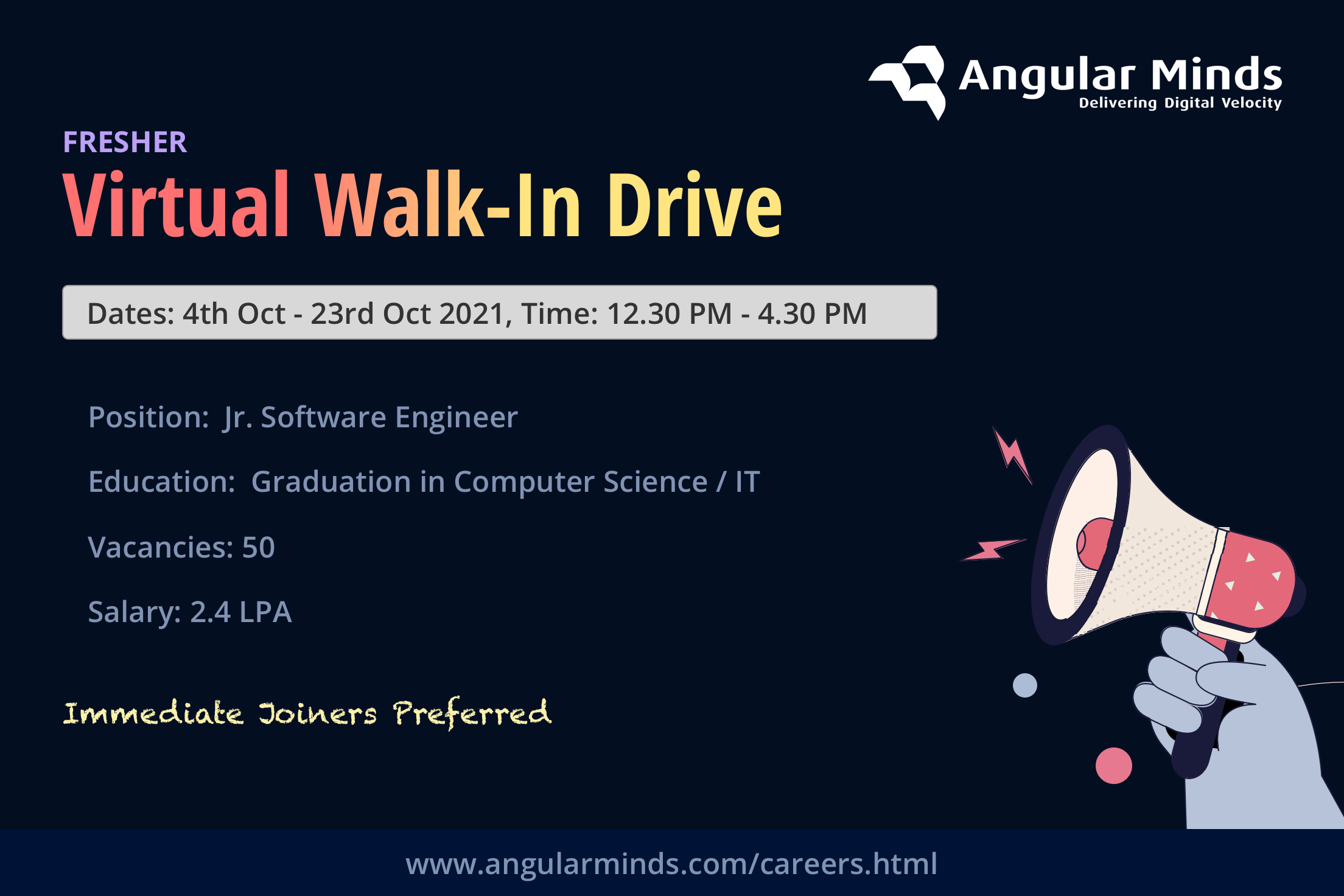 Angular Minds Walk-in Drive