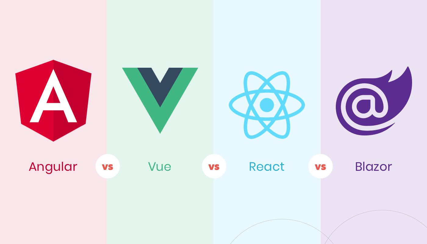blazer vs angular vs react vs vue