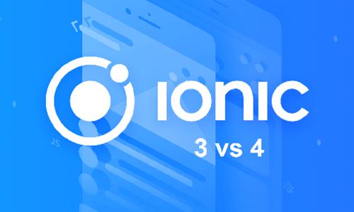 ionic 3 vs ionic 4