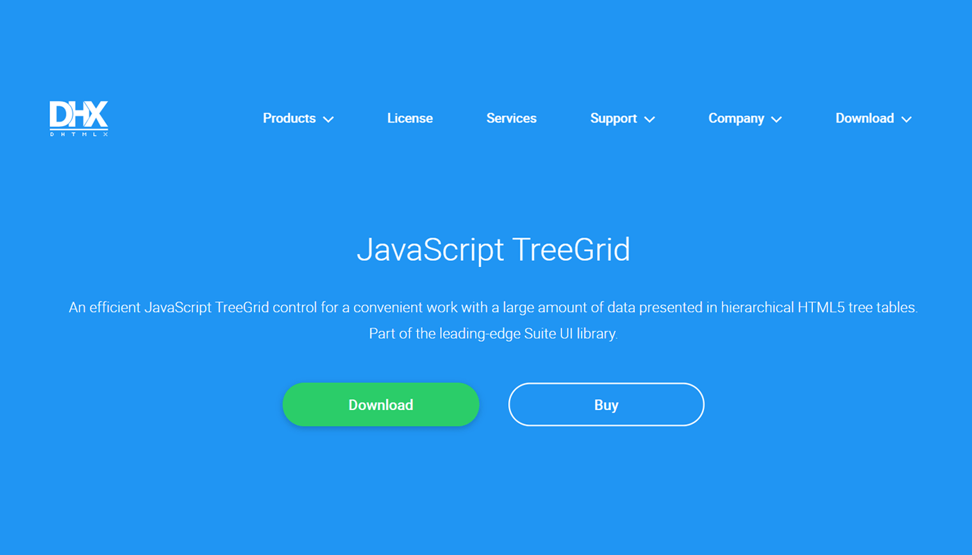 JavaScript TreeGrid Libraries- DHTMLX