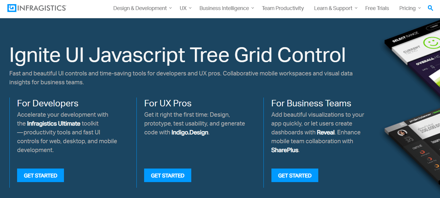 JavaScript TreeGrid Libraries- Ignite UI