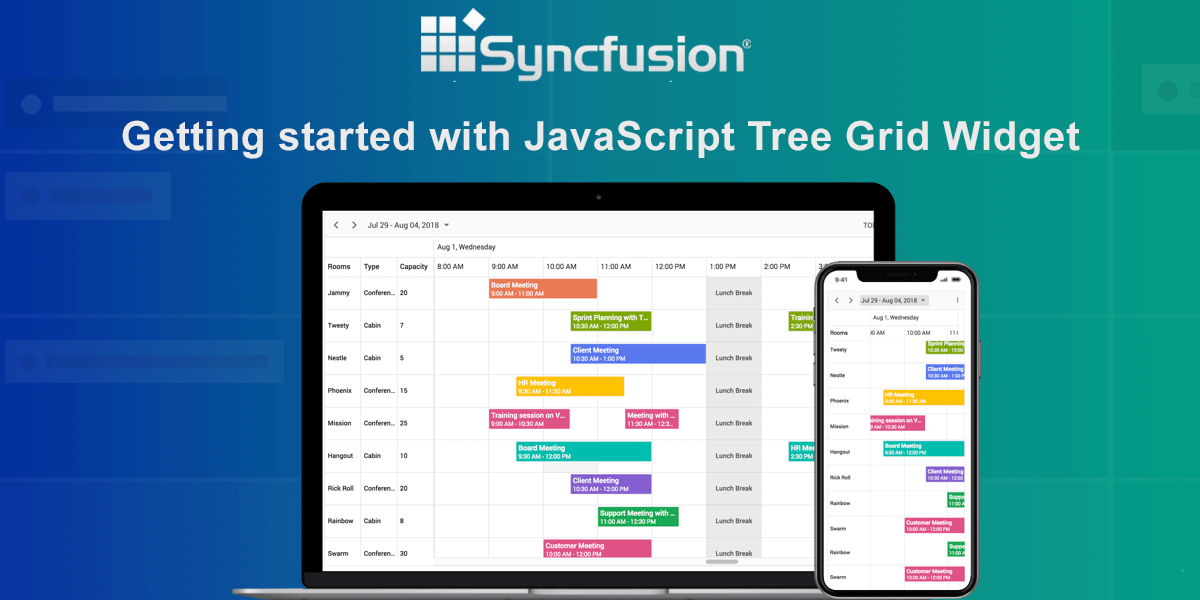JavaScript TreeGrid Libraries- Syncfusion