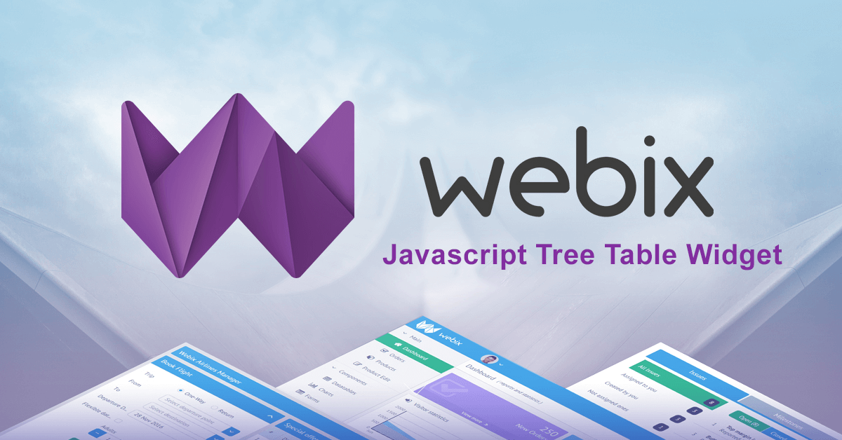 JavaScript TreeGrid Libraries- webix